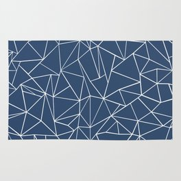 Abstraction Outline Navy Rug