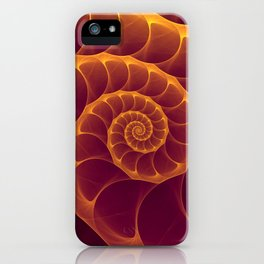 Infinity | Gold Burgundy Sea Shell iPhone Case