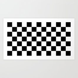 Traditional Black And White Chequered Start Flag Art Print