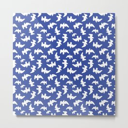 Birds Drawing Pattern Design Metal Print