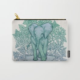 Emerald Elephant in the Lilac Evening Carry-All Pouch