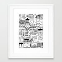 cityscape Framed Art Prints featuring cityscape by Anna Grunduls