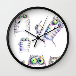 Violet cats Wall Clock