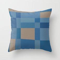 Palm Springs Blue Throw Pillow