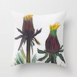 sow-thistle Throw Pillow