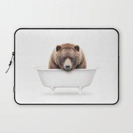 Brown Bear in a Vintage Bathtub (c) Laptop Sleeve