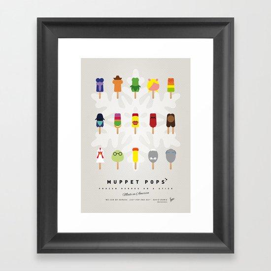 My MINIMAL ICE POPS univers III Framed Art Print