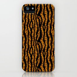 zebra and leopard print, mixed pattern iPhone Case