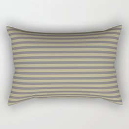 Rayures stripes moutarde taupe Rectangular Pillow