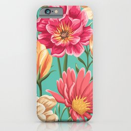 Romantic Floral Pattern iPhone Case
