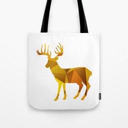 Deer - Gold Geomatric Tote Bag