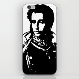 Napo in Black and White iPhone Skin