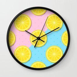 Lemon slices pattern Wall Clock