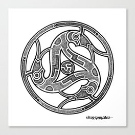 Dotwork Vendel Triskele Canvas Print