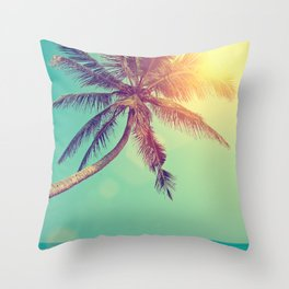 Palm Tree in Sri Lanka Throw Pillow
