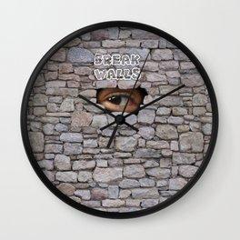 Break Walls Wall Clock
