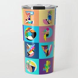 AMP Noise collage alphabet Travel Mug