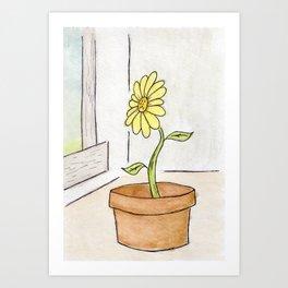 Flower Yellow Art Print