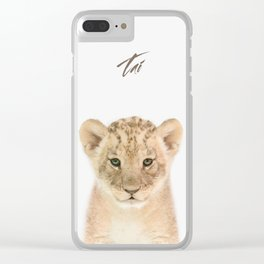 Baby Lion Clear iPhone Case