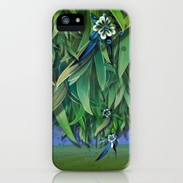 """""""Spring Forest of Surreal Leaf litter and flowers"""" iPhone Case"""