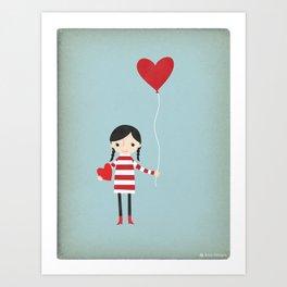 Love is in the Air - Girl Art Print
