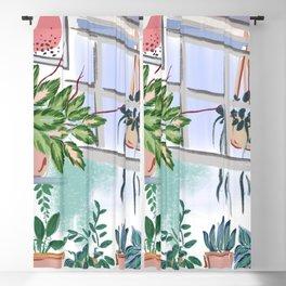 House Plants Illustration 011 Blackout Curtain
