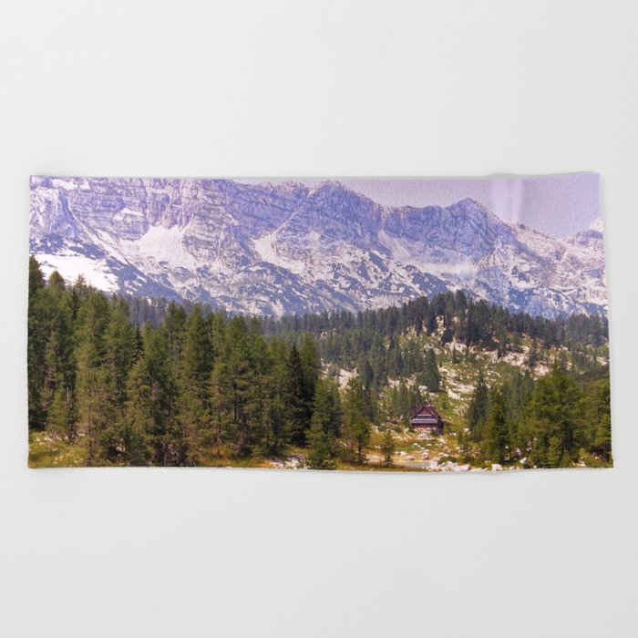 In the mountains Beach Towel