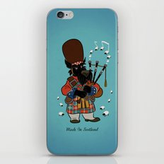 Scottie with a bagpipe iPhone & iPod Skin