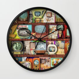 The Golden Age of Television Wall Clock