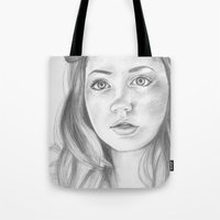 amy pond Tote Bags featuring amy pond  by Jill Schell