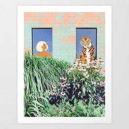 Love Thy Neighbor #illustration #wildlife Art Print