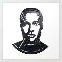 brad pitt Art Prints featuring Brad Pitt by Alejandro de Antonio Fernández