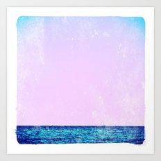 summer sail (lilac) Art Print