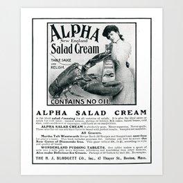Alpha Salad Cream, New England  Art Print