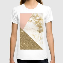 Gold marble collage T-shirt