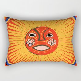 The sun Huichol art Rectangular Pillow