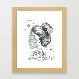 Scars to Your Beautiful (Alessia Cara) Framed Art Print