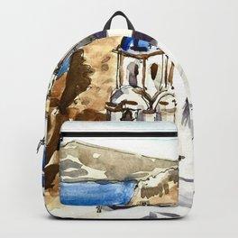 Santorini Island Greece Backpack