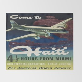 Vintage poster - Haiti Throw Blanket