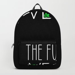 the future is vegan Backpack