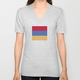 flag of armenia Unisex V-Neck