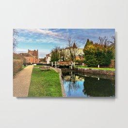 Town Lock Newbury Metal Print