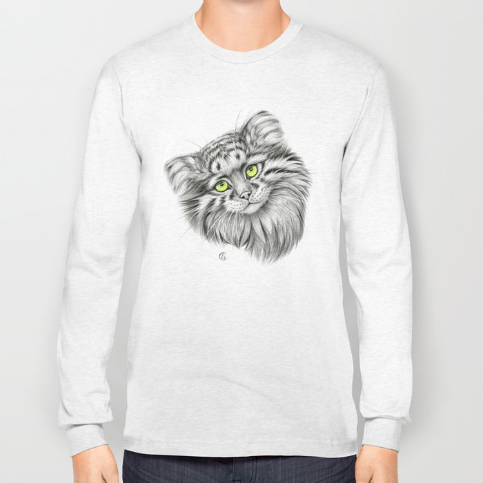 Pallas's Cat green G2012-51 Long Sleeve T-shirt