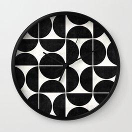 Mid-Century Modern Pattern No.3 - Concrete Wall Clock