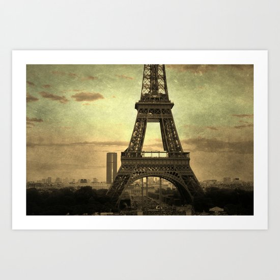Mon Paris - La Tour Eiffel Art Print