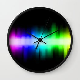 Soundwave cells Wall Clock