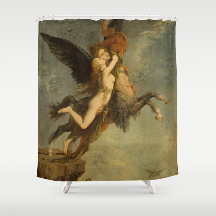 "Gustave Moreau ""The Chimera (La Chimère)"" Shower Curtain"
