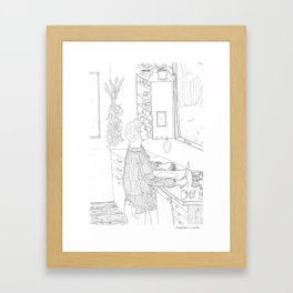 beegarden.works 002 Framed Art Print