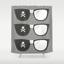 The Smartest Pirate Shower Curtain