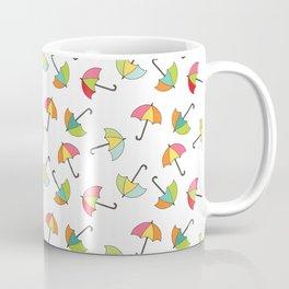 April Showers - Spring Rain Umbrella Pattern Coffee Mug